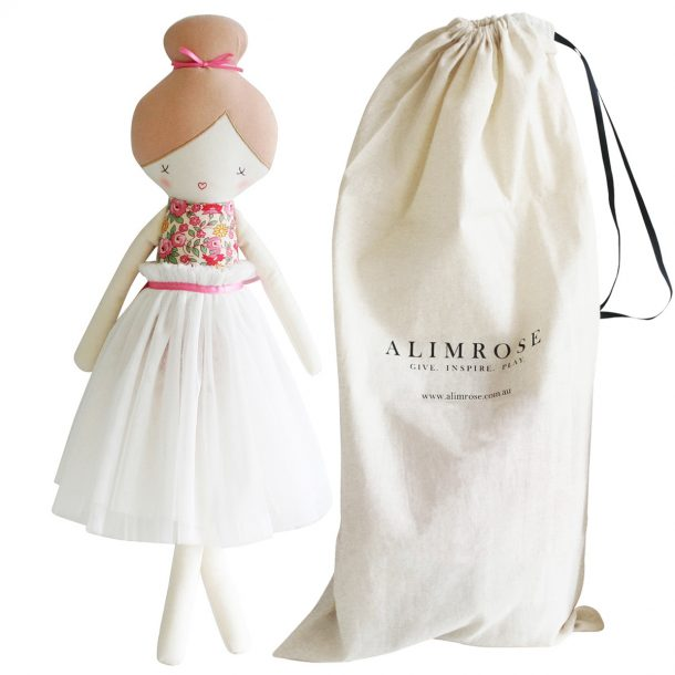 ALIMROSE Ivory Amelie Doll with bag