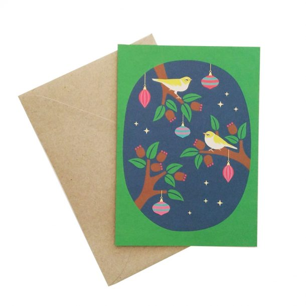 Christmas Birds Card front