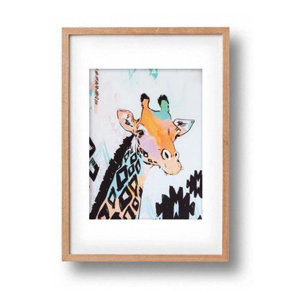 OKAY LUNA A3 Giraffe Print framed