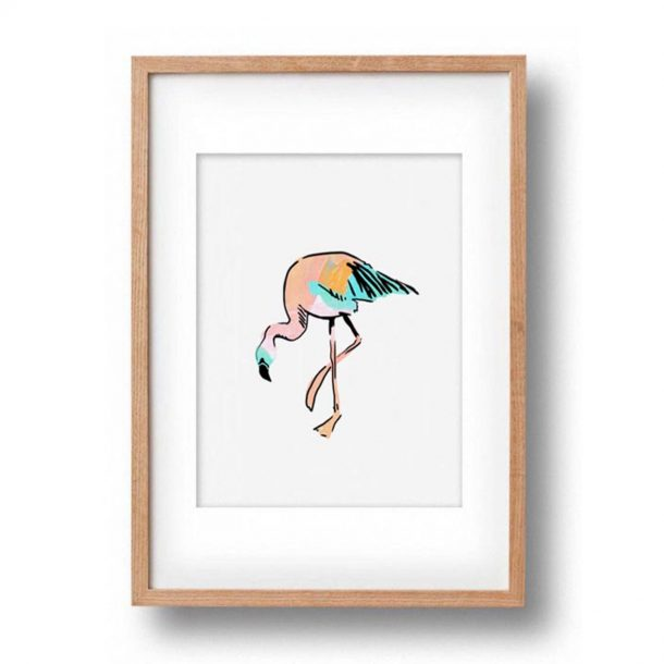 OKAY LUNA Baby Flamingo Print