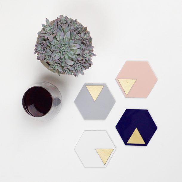 modern GEO Coasters