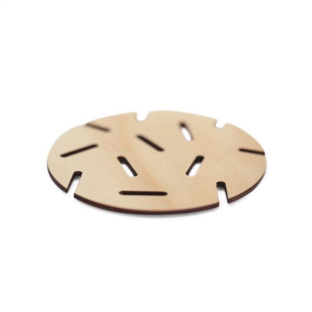 wooden modern Confetti Coaster