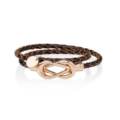 Chocolate Brown Lady Fox Infinity Bracelet