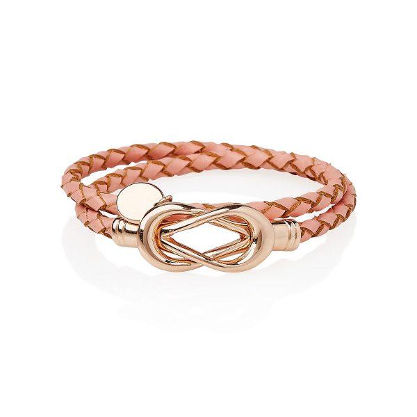 Pink Lady Fox Infinity Bracelet