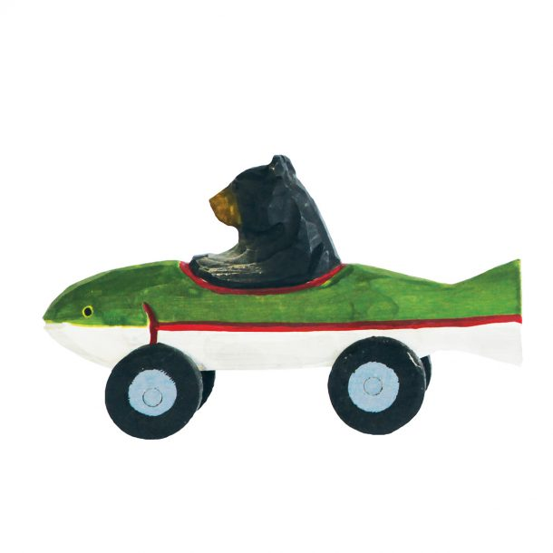 Fish Bear wooden Racer toy