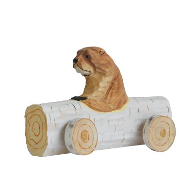 Log Beaver wooden Racer toy