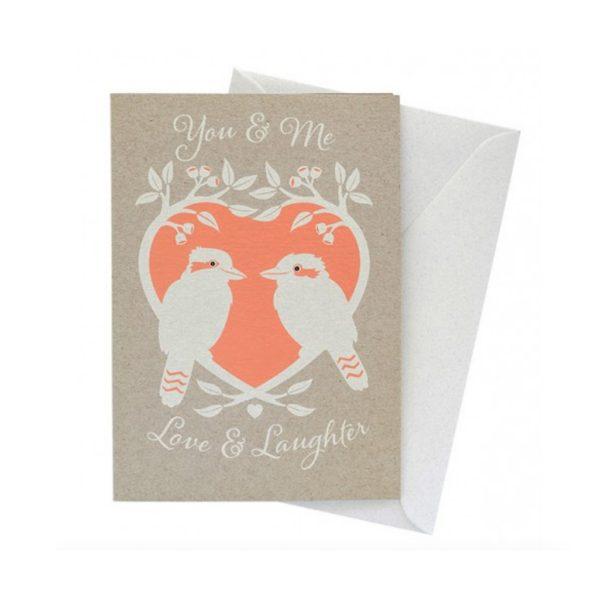 Kookaburra Love Card