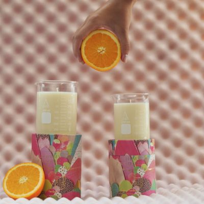 Candied Orange Peel Beaker Candle