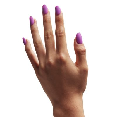 Violet Nail polish on nails