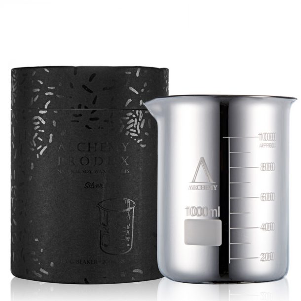 Huge Silver Beaker Candle