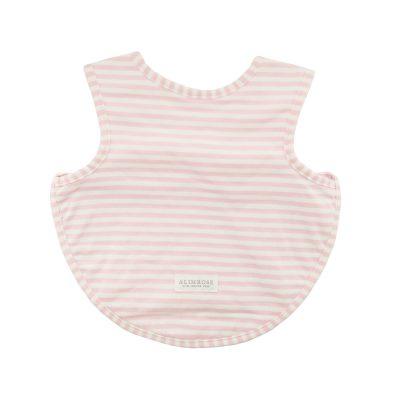 Pink Alimrose Stripe Bib