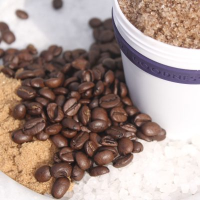 Anti-Cellulite Coffee Scrub with coffee beans