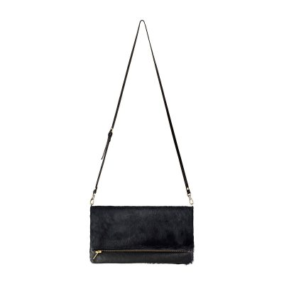 Status Anxiety Black Fur Gwyneth Bag