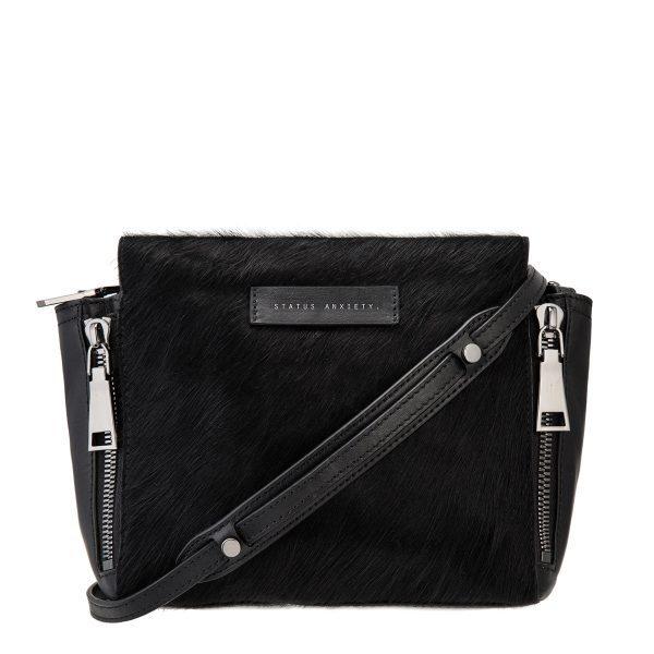 Status Anxiety Black Fur Ascendants Bag