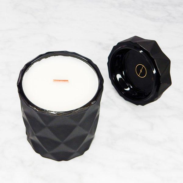 Black Diamond Wooden Wick Candle