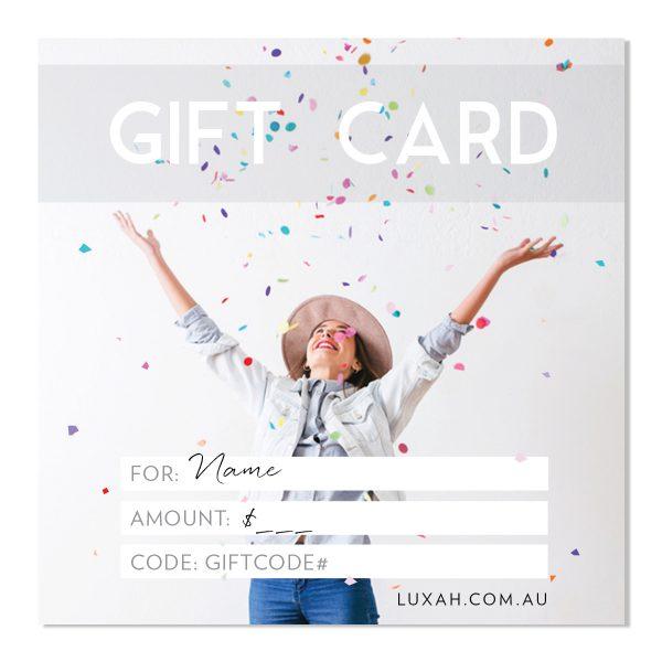 LUXAH Gift Voucher! CONFETTI