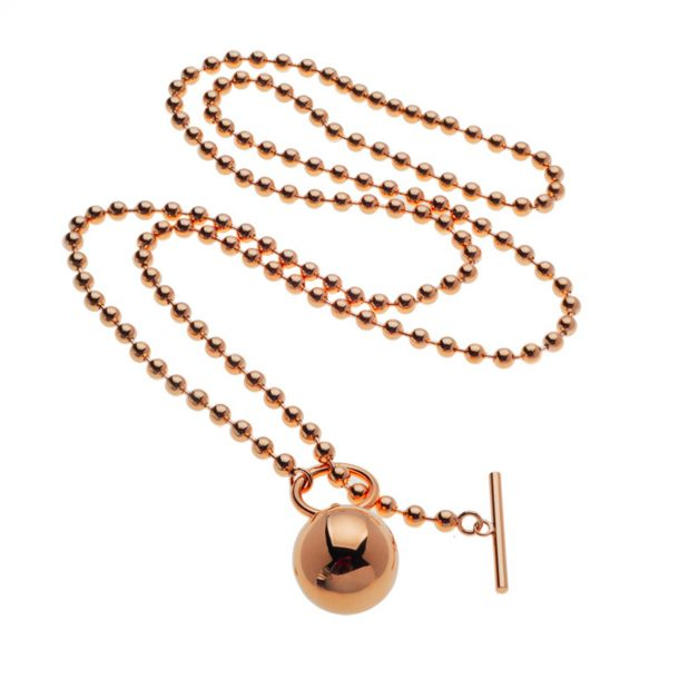 Rose Gold long ball Necklace
