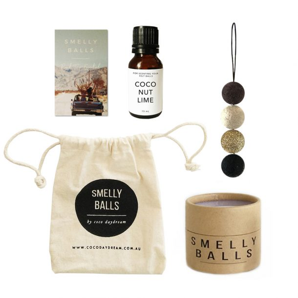 Smelly Balls Gold Glitter Set
