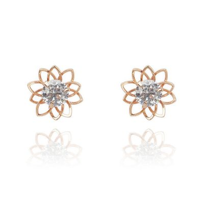 LADY FOX // Lotus Flower Earrings