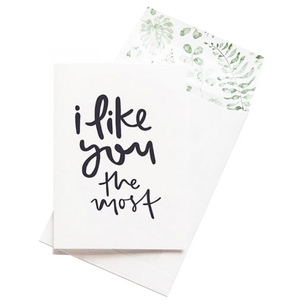 EMMA KATE CO. I like You the Most Greeting Card