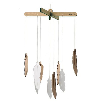 Bamboo Feather Nursery Mobile