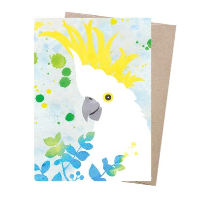 EARTH GREETINGS // Sulphur-Crested Cockatoo Dreamscapes Card