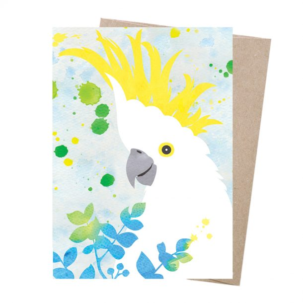EARTH GREETINGS Sulphur-Crested Cockatoo Dreamscapes Card