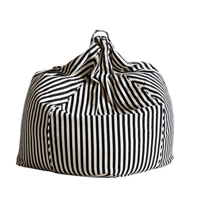 SACK ME! black and white striped bean bag