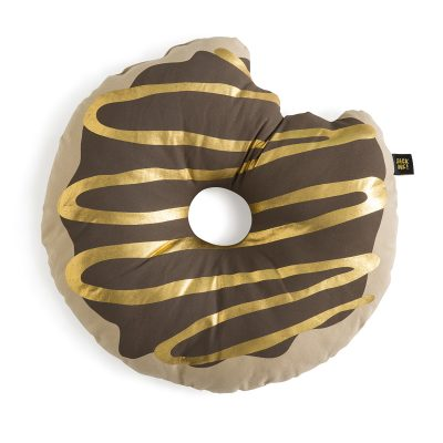 Metallic Zig Zag Krispy Dreme Donut Cushion