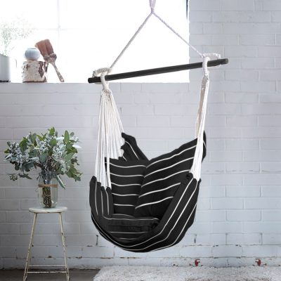 Black and White Stripe Noosa Hammock Swing