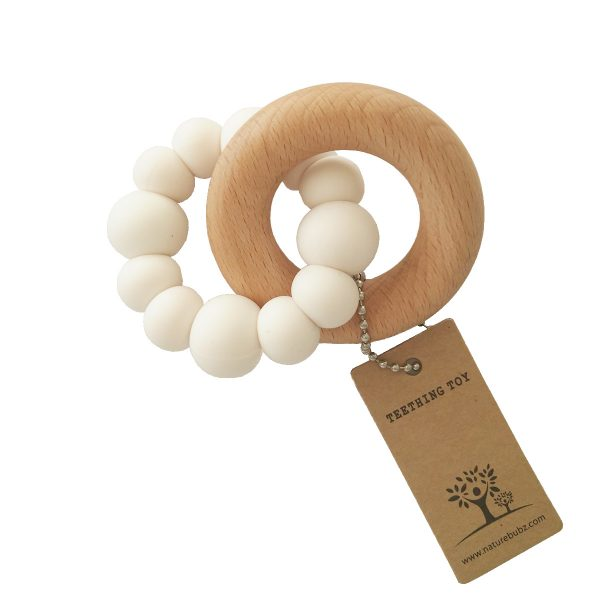 BLOK Teether white with white background