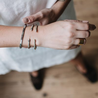 women wearing bangles on her wrist