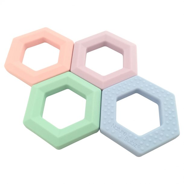 Hexi Teethers (4 Colours)