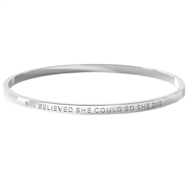 BE. She Believed She Could So She Did Bangle