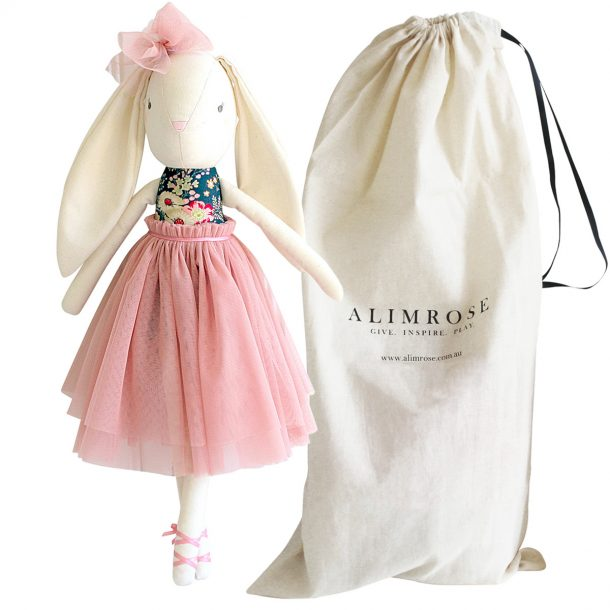 ALIMROSE Navy Blush Bronte Ballet Bunny with bag