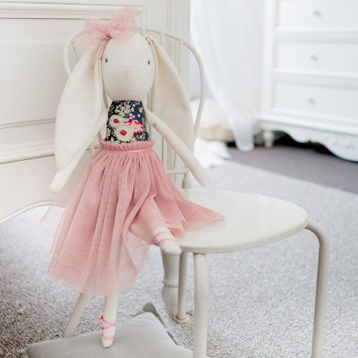Navy Blush Bronte Ballet Bunny