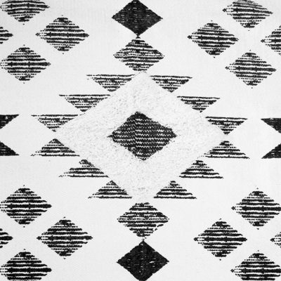 Large Black and White Traditional Rug