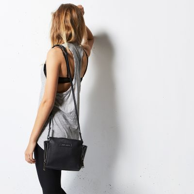 STATUS ANXIETY // Black Leather Ascendants Bag