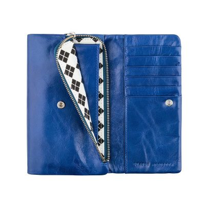 STATUS ANXIETY Royal Blue Audrey Wallet inside pocket