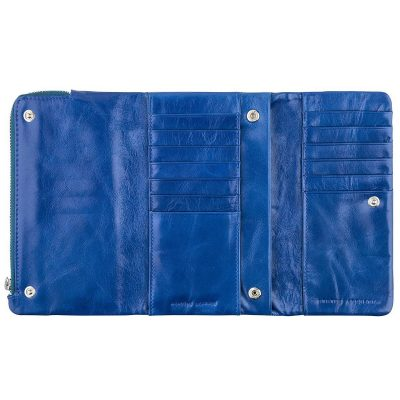 STATUS ANXIETY Royal Blue Audrey Wallet opened