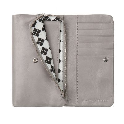 STATUS ANXIETY Light Grey Audrey Wallet inside pocket