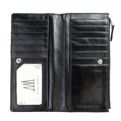 Status Anxiety Black Dakota Wallet inside pockets