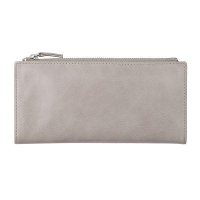 Status Anxiety Light Grey Dakota Wallet back