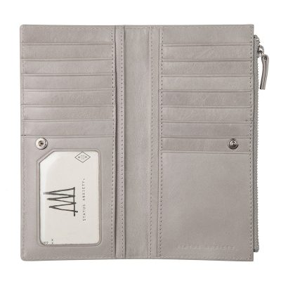 Status Anxiety Light Grey Dakota Wallet inside pockets