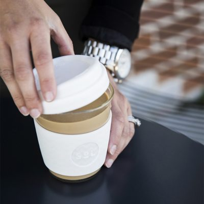 White Wave SoL Cup with coffee