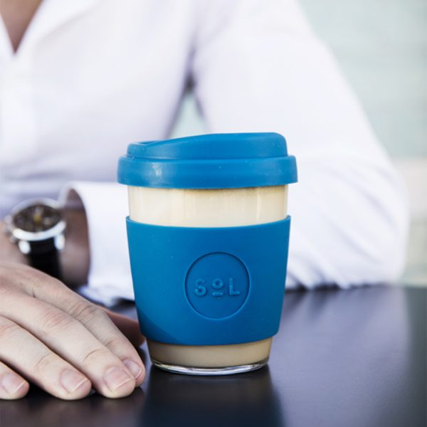 Bondi Blue SoL Cup large with coffee