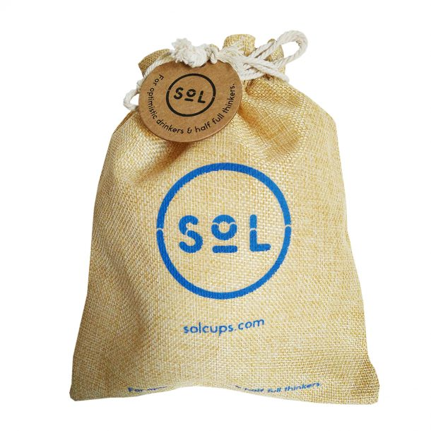 Reusable SoL Coffee Cup Pouch