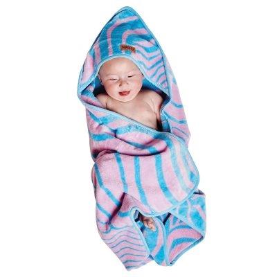 Baby in Slither Velour Baby Towel