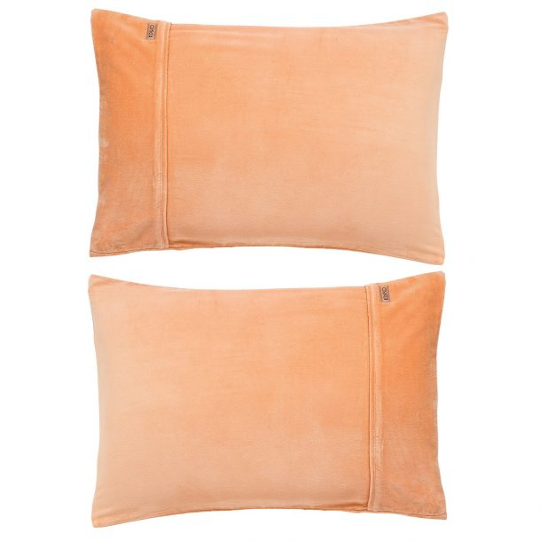 Kip&Co Peach Sorbet Velvet Pillowcase 2 Piece Set