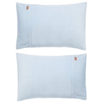 KIPANDCO // Kip&Co Baby Blue Velvet Pillowcase 2 Piece Set